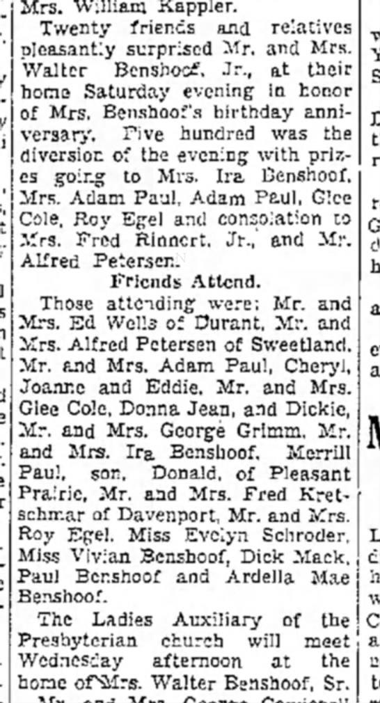The Muscatine News-Tribune, Muscatine, Iowa, 24 Sep 1935, p. 10. -