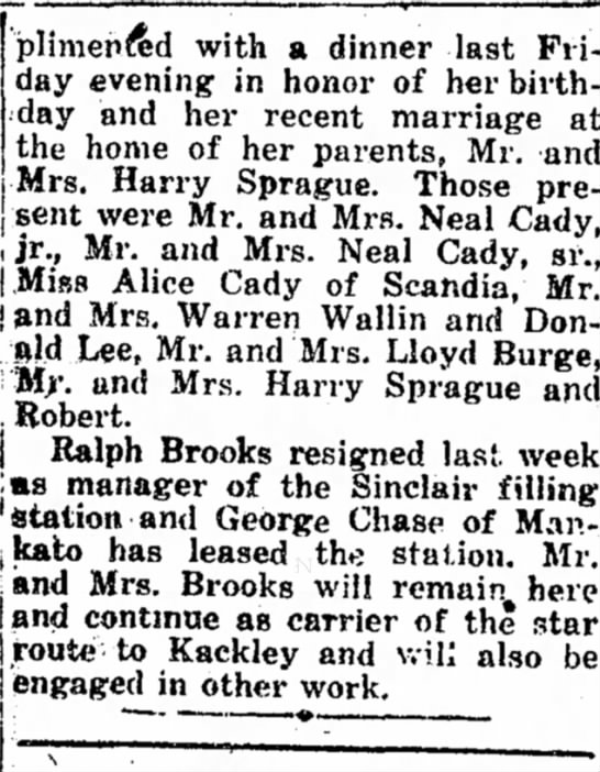 2nd part bridal shower  Belleville Telescope pg 7, May 2, 1946 -
