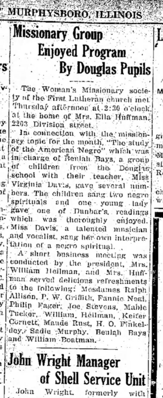 Mary Allison - Missionary Group
