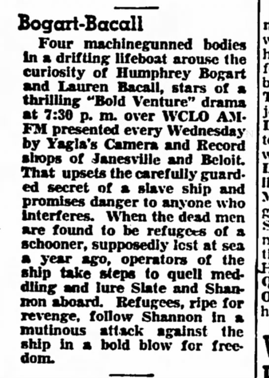 51-10-03 Synopsis - Bogcai-Bacall Four machinegunned bodies In a...