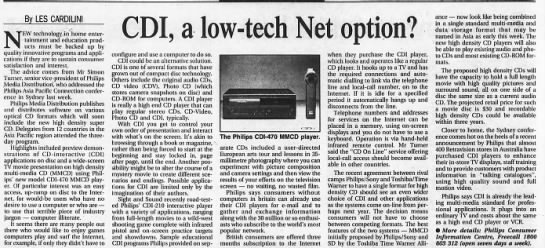 """CDI, a low-tech Net option"" by Les Cardilini -"