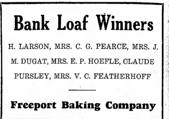 EP Hoefle 1936 Bank Loaf Winner -