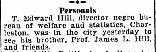 Feb 7, 1925 Bluefield Daily Telegraph - Personals -