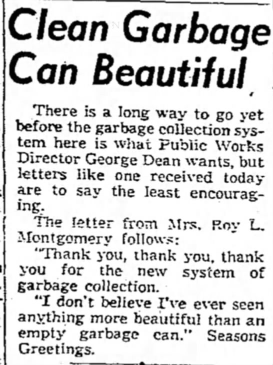Roy L Montgomery thank you letter -