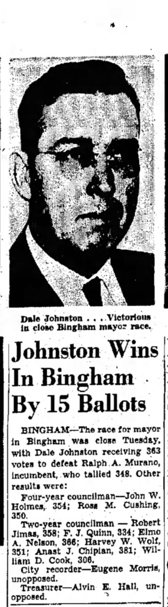1845 Dale Johnston Bingham Mayor -