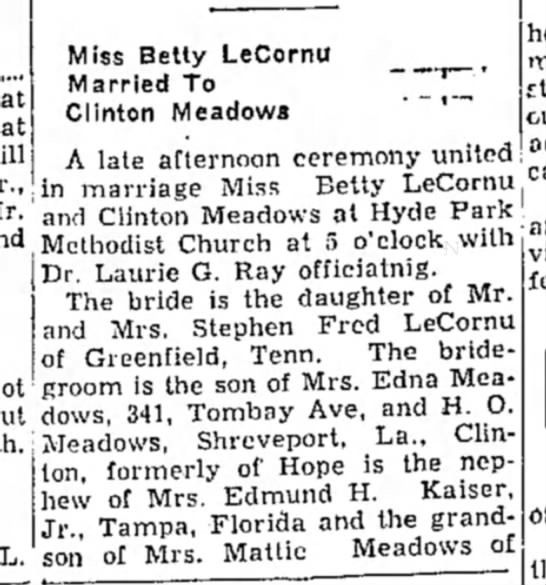 Betty LeCornu wedding 1 -