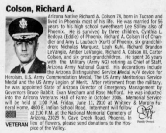 Richard Arthur Colson Obituary -
