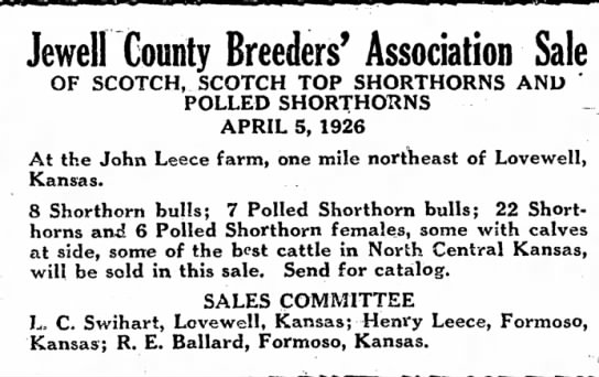 Jewell Co. Breeders' Sale -