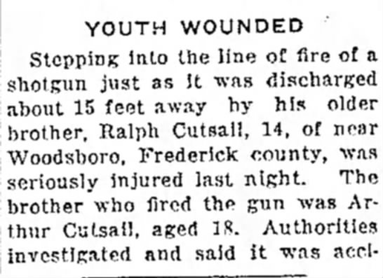Ralph Cutsail accidental shooting -