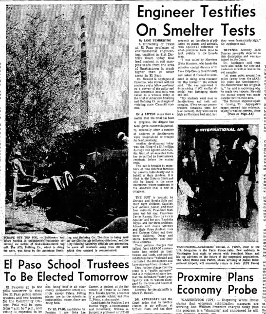 EPHP - March 31, 1972, Engineer Testifies on Smelter Tests, A1, A6 -