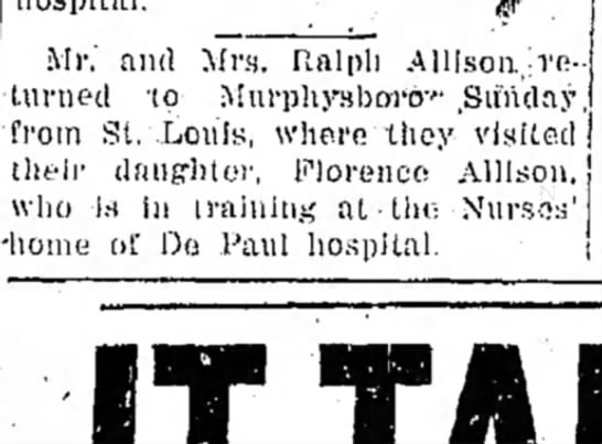Ralph and Mary visit Florence in St. Louis