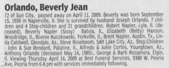 obituary of beverly jean orlando nee agnew newspapers com