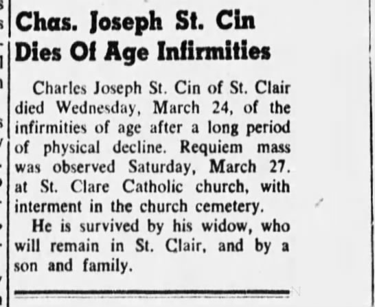 Clipping from St  Clair Chronicle - Newspapers com