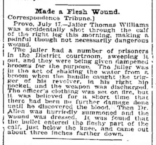 Tis but a flesh wound. 4-18-1899 -