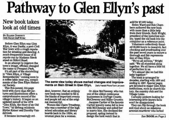 Glen Ellyn, Illinois, history for McChesney -