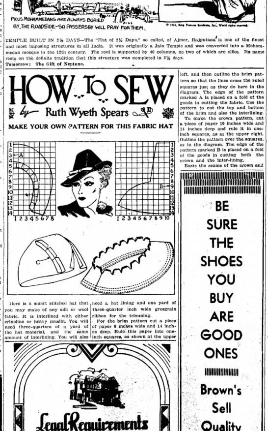 5 oct 1936 fabric hat 1 -