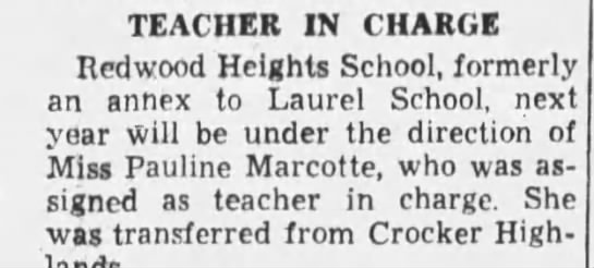 Laurel School - Teacher in Change June 21, 1935 -