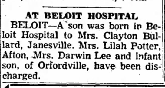 Janesville Daily Gazette  13 Nov 1954 -