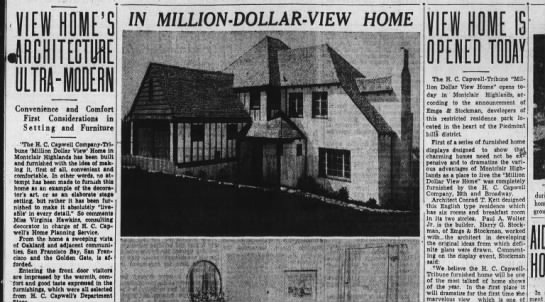 Million Dollar -view home Aug 09 1936 -