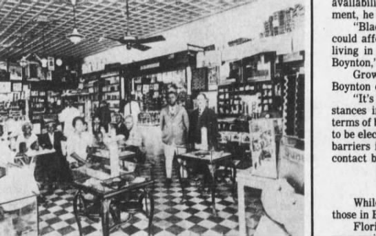 "PALM GARDEN DRUG STORE  1930S - r'Att'- c--""---'---' .Ui'' ( WCr said. afford..."