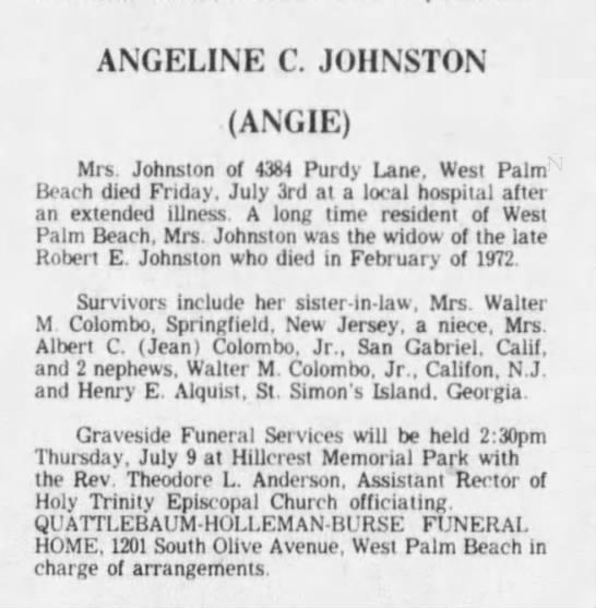 Angie Johnston's obituary - Newspapers com