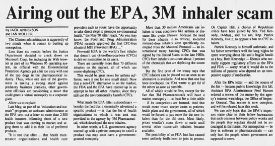 airing out the epa 3m inhaler scam -