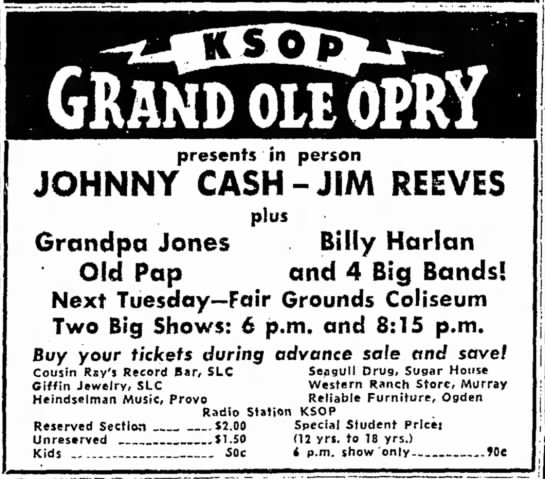 - GRAND OLE OPRY presents in person JOHNNY...