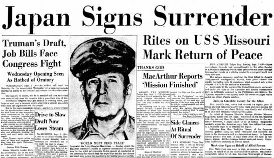 Japan Surrenders -