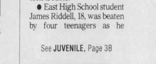 (1B) The Des Moines Register Wednesday, March 8 2006 - East High School student James Riddell, 18, was...