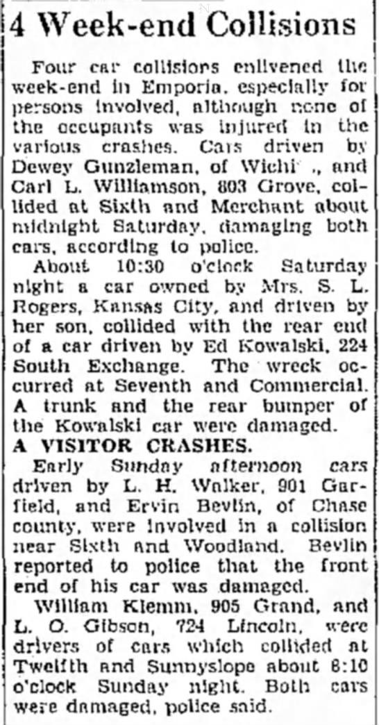 Ervin's Car Accident -