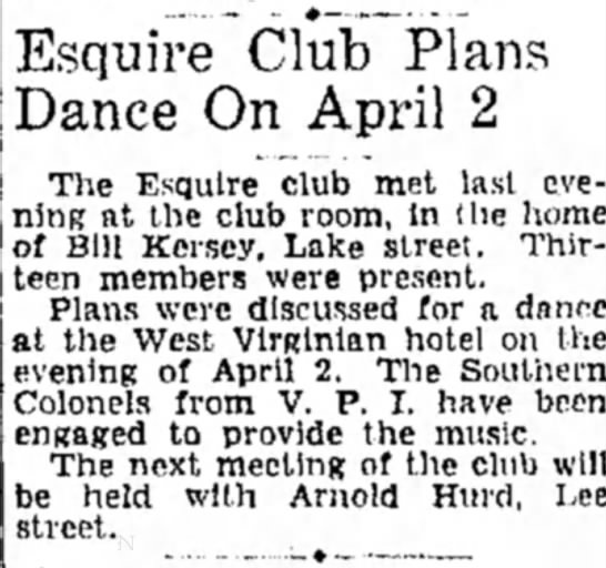 - Esquire Club JPlans Dance On April 2 The...