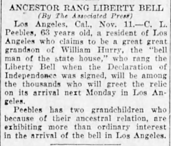 Ancestor Rang Liberty Bell -
