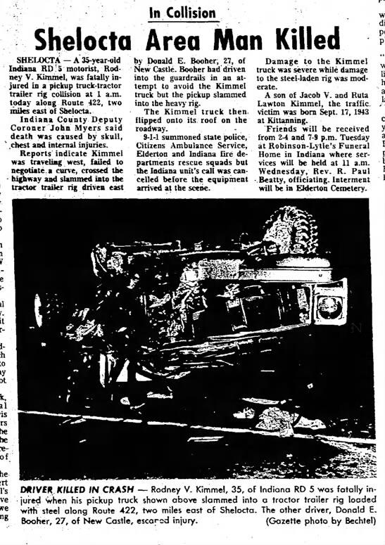 Rodney Kimmel Accident - Newspapers com