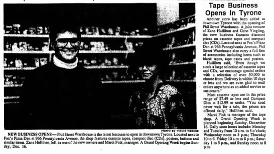 Tyrone Daily Herald - Music Store - 12 December 1990 -