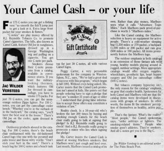 Camel Cash editorial -
