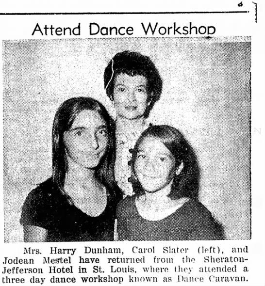 - the Attend Dance Workshop mm 3 Mrs. Harry...