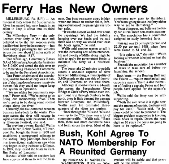 Mbg Ferry has new owner 1990. -