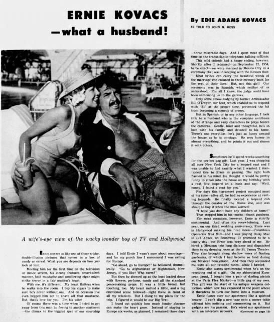Ernie Kovacs What a Husband -