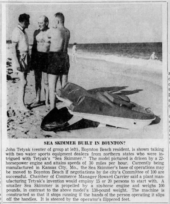 Sea Skimmer Built in Boynton? -