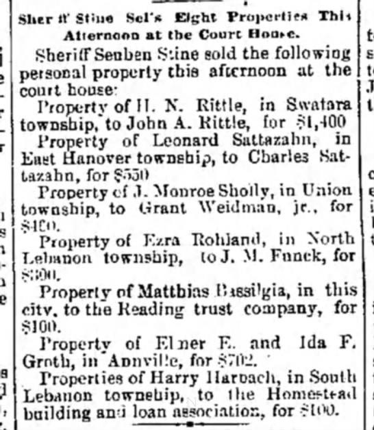 Sheriff Sales - Newspapers com