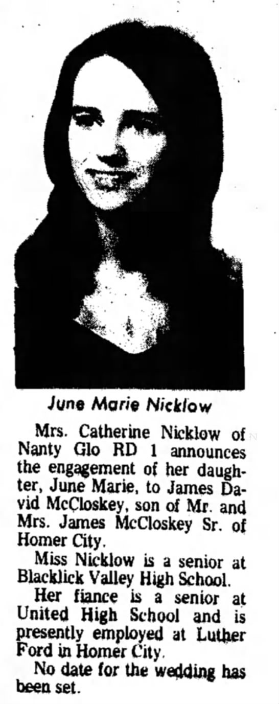 Henry: Tiny's Sister June's Engagement - June Mane N/cfc/ow Mrs. Catherine Nicklow of...