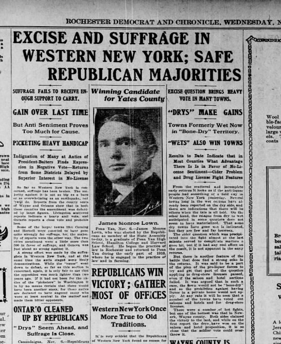 Western NY says No to Suffrage -
