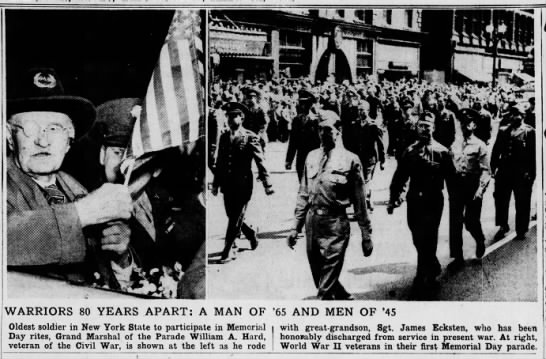 Civil War veteran and great-grandson, WWII veteran, participate in Memorial Day parade -