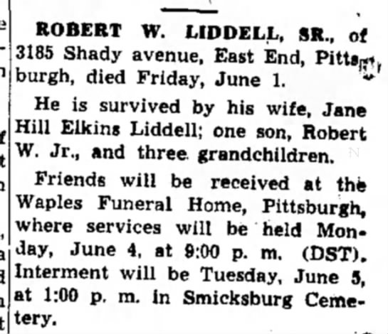 Obit @ Waples Funeral Home -