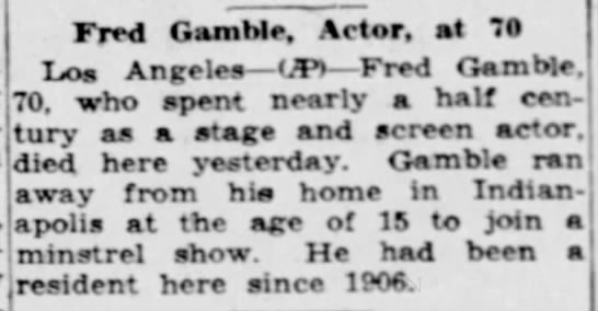 Fred Gamble -