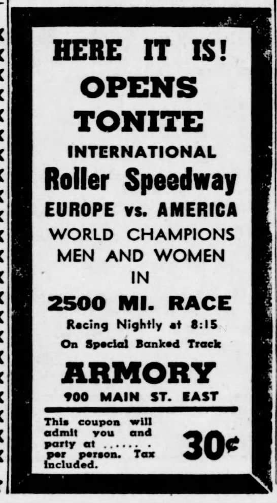 05-24-46 Rochester, NY - HERE IT IS! OPENS TONITE INTERNATIONAL Roller...