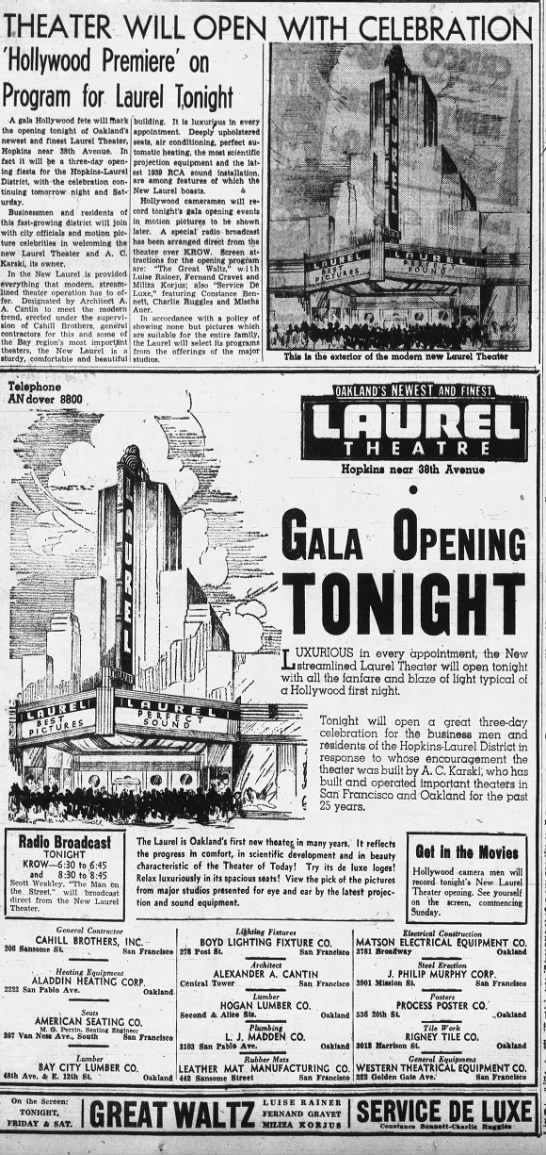 Laurel theatre opening -