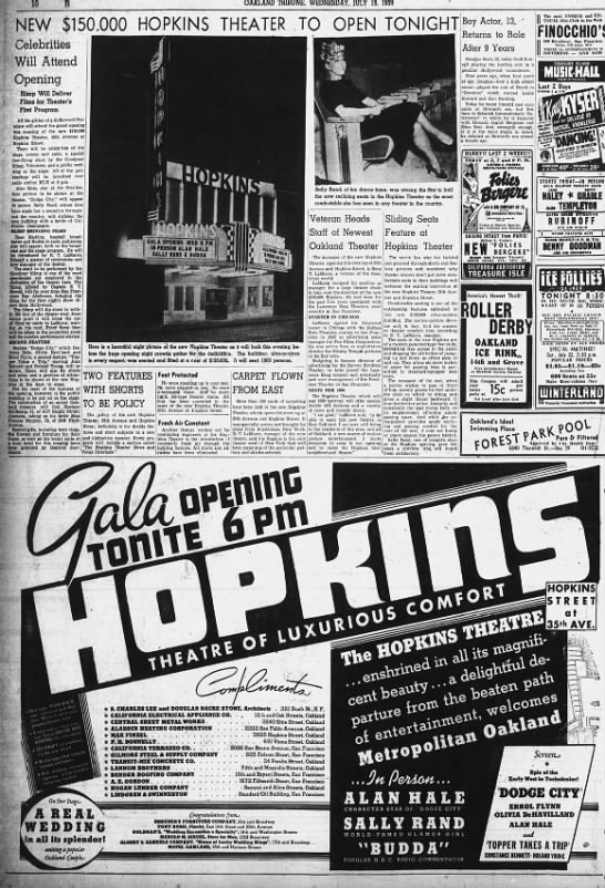 Hopkins theatre opening -
