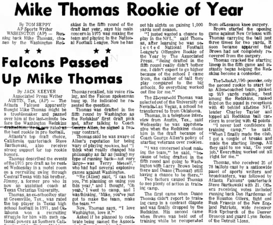 Mike Thomas Rookie of Year -