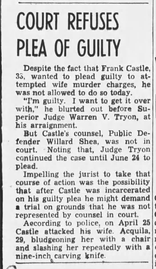 Frank Castle, 21 Jun 1940, Fri, pg 29, Oakland Tribune (Oakland, CA) -